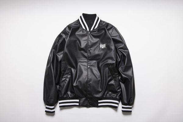 BHJK BxH Fake Leather Varsity Jkt ¥26,800+tax