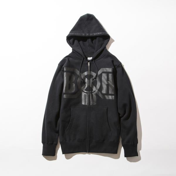 BHLC BxH Black x Black Logo Zip-up Pk 14 800+tax