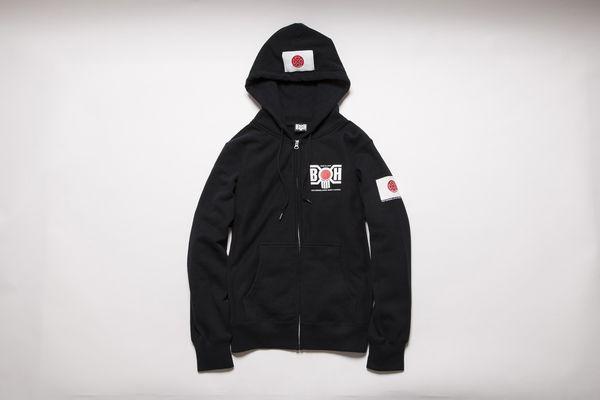BHLC BxH Samurai Black Zip-up Pk ¥14,800+tax