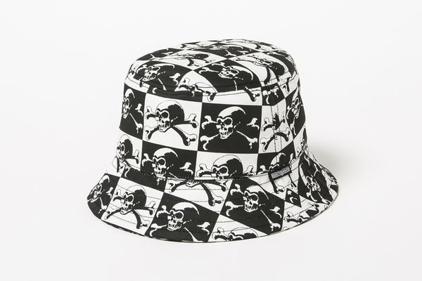 BHFA BxH Skull Checker Bucket Hat ¥7,000+tax