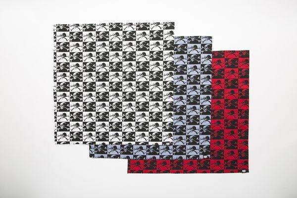 BHFA BxH Skull Checker Bandanna ¥2,200+tax