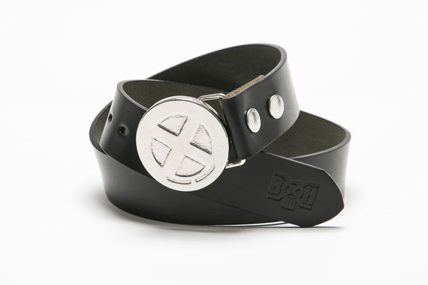 BHFA BxH Circle Logo Silver Buckle Leather Belt ¥15,800+tax
