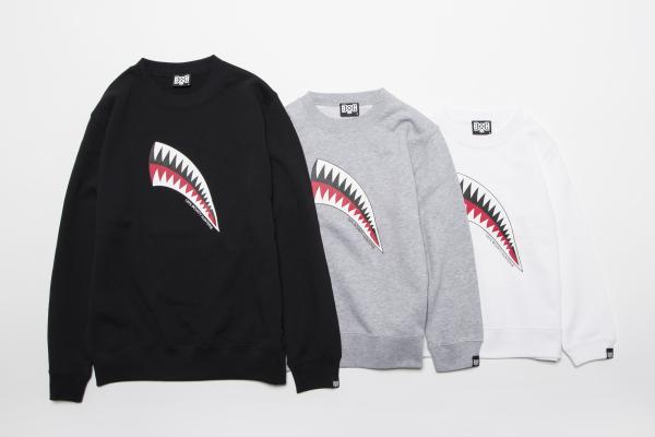 BHKL BxH Shark Kids Crew Neck Sw ¥7,800+tax